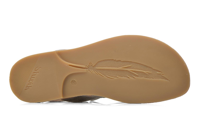 Sandales et nu-pieds Shwik Lazar Hi Lace Argent vue haut