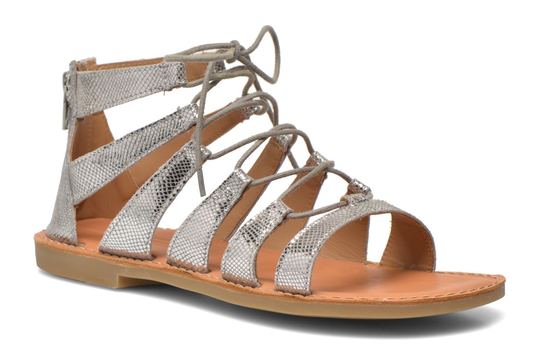 Sandales et nu-pieds Shwik Lazar Hi Lace Argent vue détail/paire