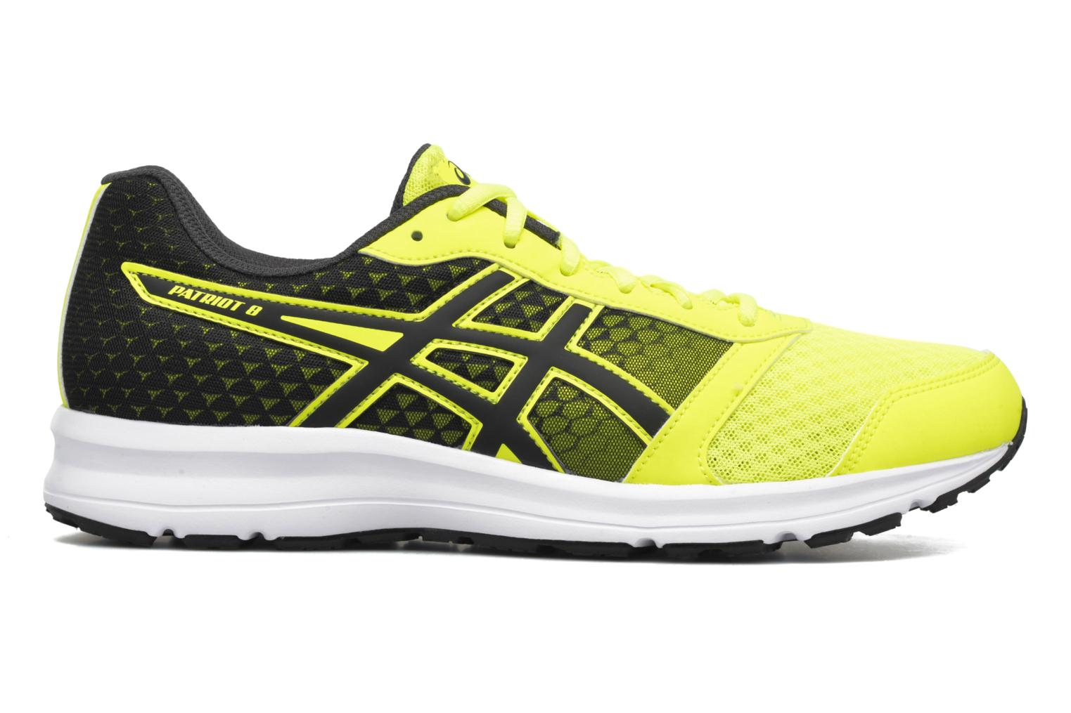 Sport shoes Asics Patriot 8 Yellow back view