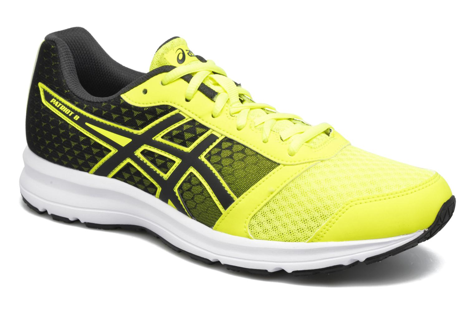 Sport shoes Asics Patriot 8 Yellow detailed view/ Pair view