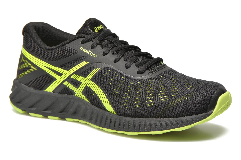 Sport shoes Asics Fuzex Lyte Black detailed view/ Pair view