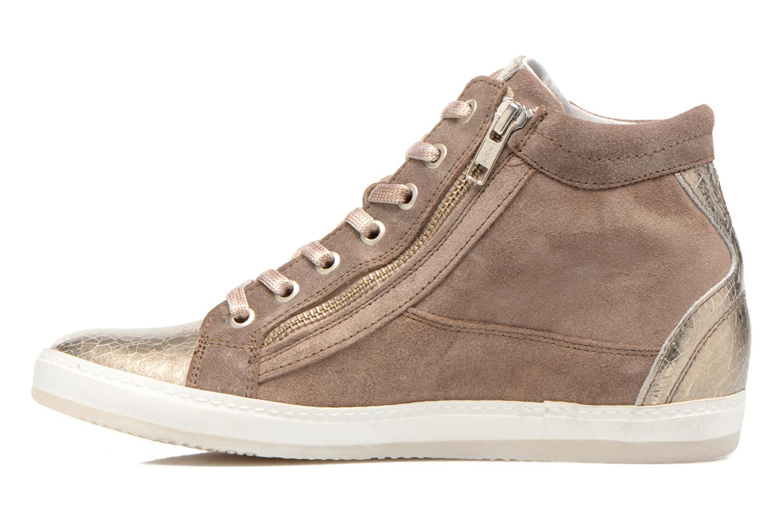 Trainers Khrio Klerviena Bronze and Gold front view