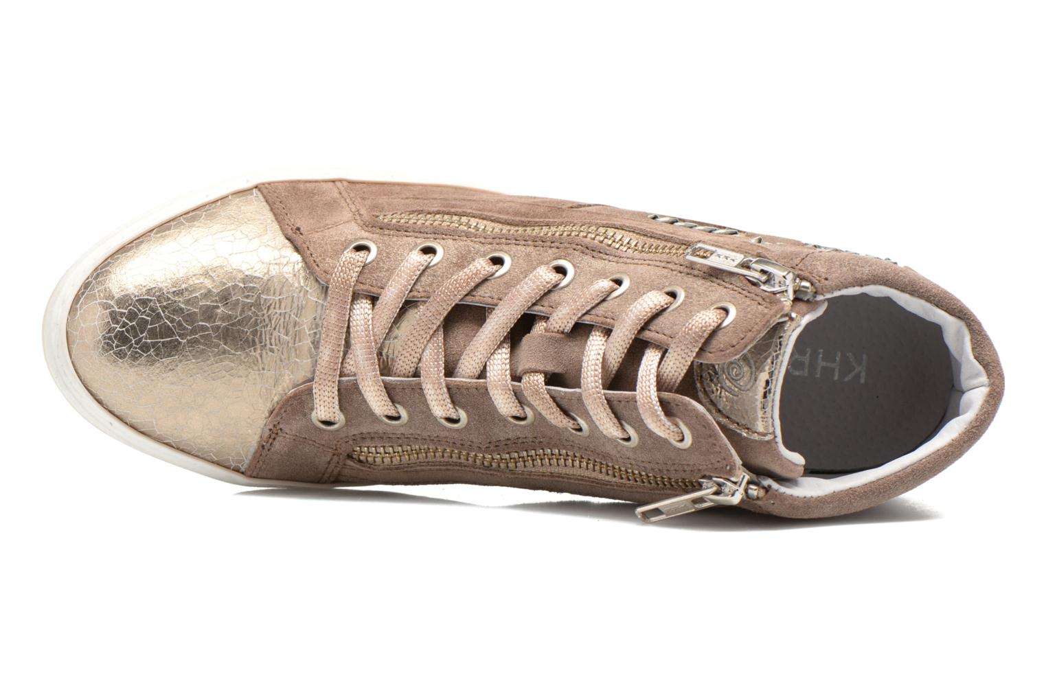 Sneaker Khrio Klerviena gold/bronze ansicht von links