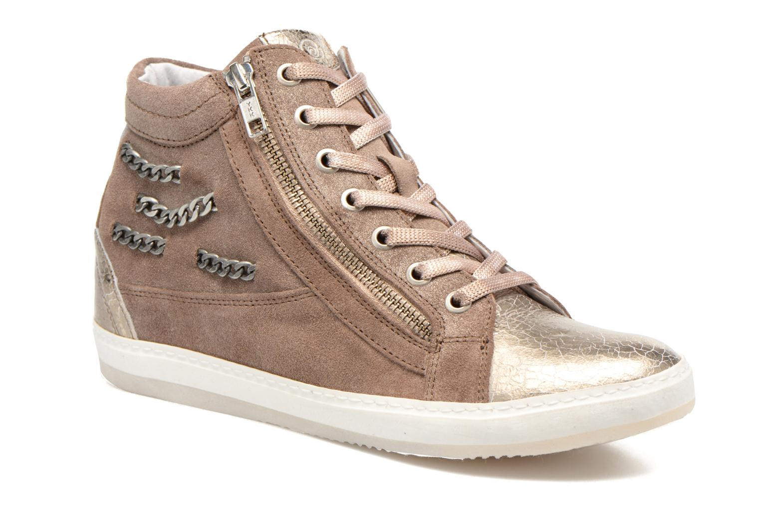 Trainers Khrio Klerviena Bronze and Gold detailed view/ Pair view