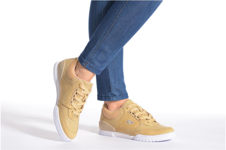 Sneaker Lacoste Indiana 116 G2 beige ansicht von unten / tasche getragen