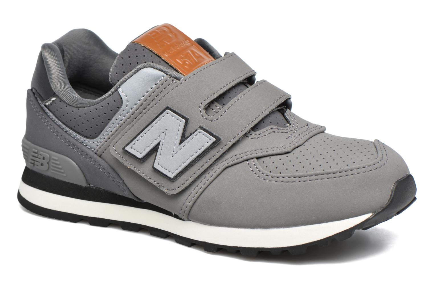 Trainers New Balance KV574 J Grey detailed view/ Pair view