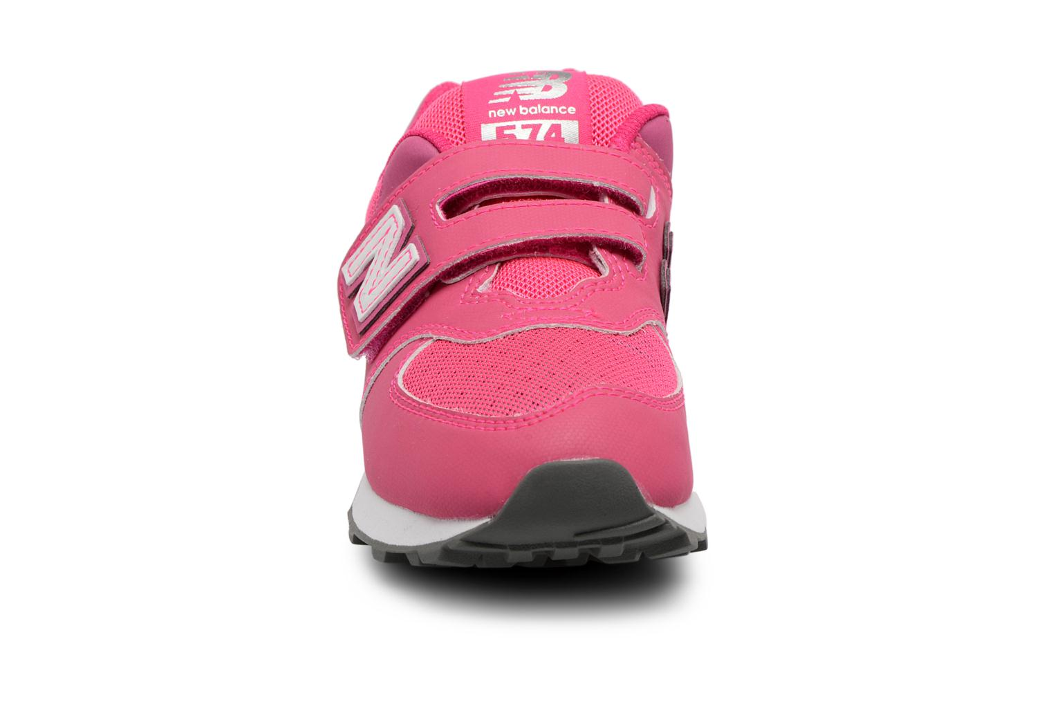 Trainers New Balance KV574 J Pink model view