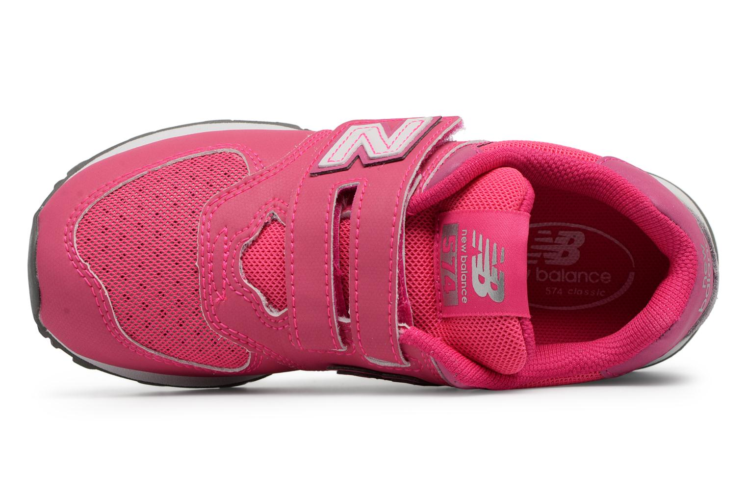 Trainers New Balance KV574 J Pink view from the left
