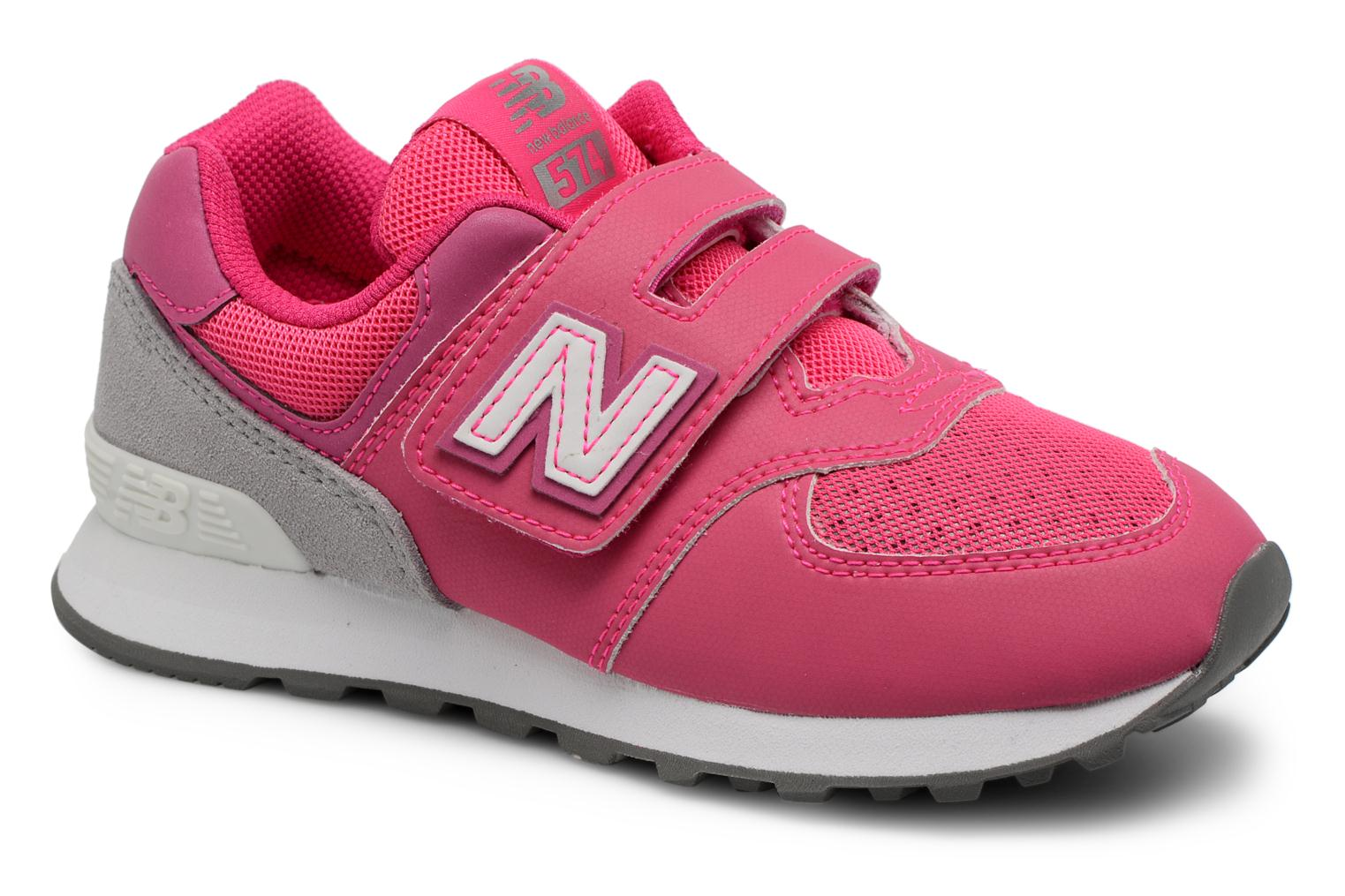 Trainers New Balance KV574 J Pink detailed view/ Pair view
