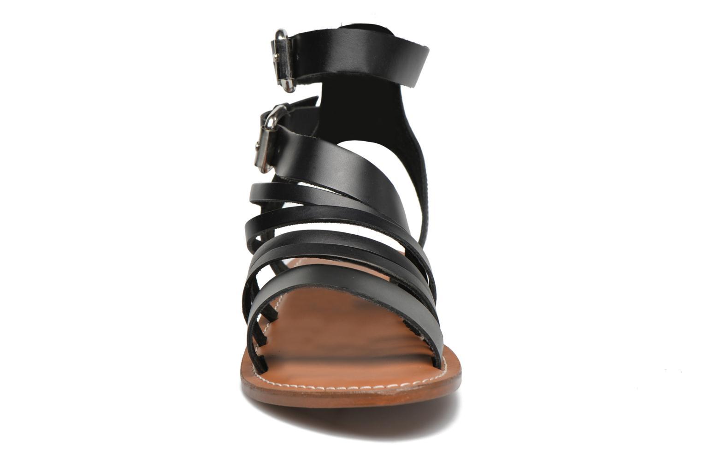 Sandales et nu-pieds L'Atelier Tropézien Popette Noir vue portées chaussures