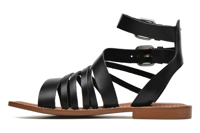 Sandales et nu-pieds L'Atelier Tropézien Popette Noir vue face