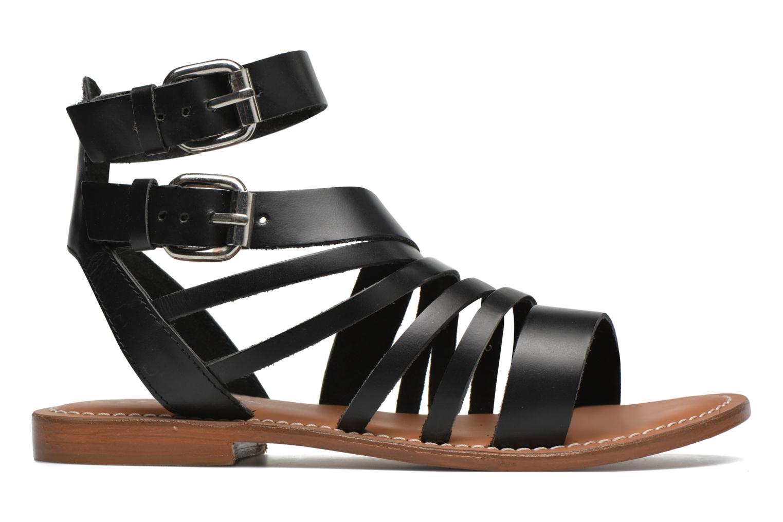 Sandales et nu-pieds L'Atelier Tropézien Popette Noir vue derrière