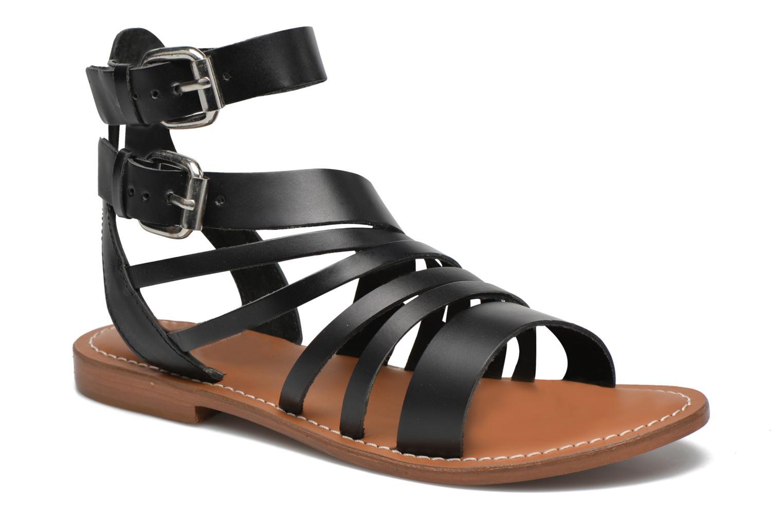Sandales et nu-pieds L'Atelier Tropézien Popette Noir vue détail/paire