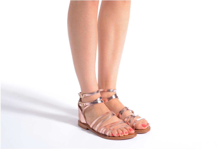 Sandales et nu-pieds L'Atelier Tropézien Juliette Rose vue bas / vue portée sac