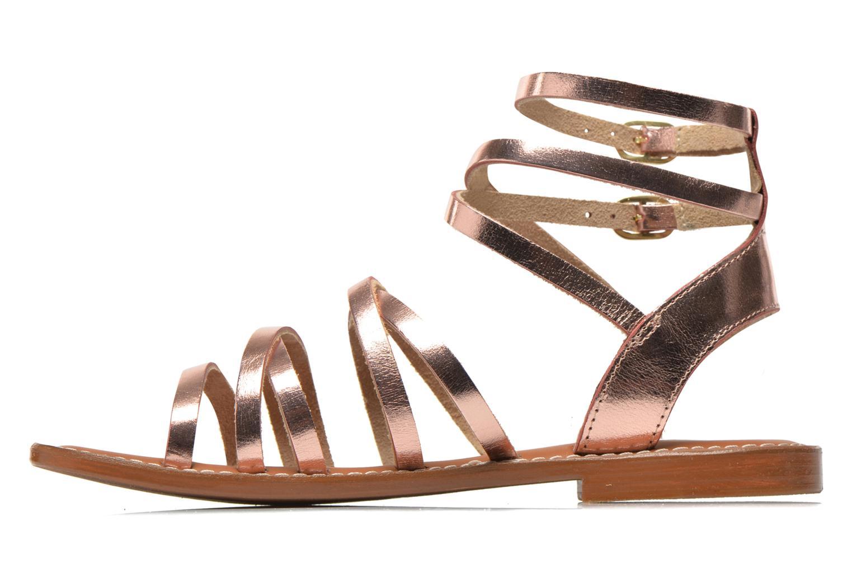 Sandales et nu-pieds L'Atelier Tropézien Juliette Rose vue face