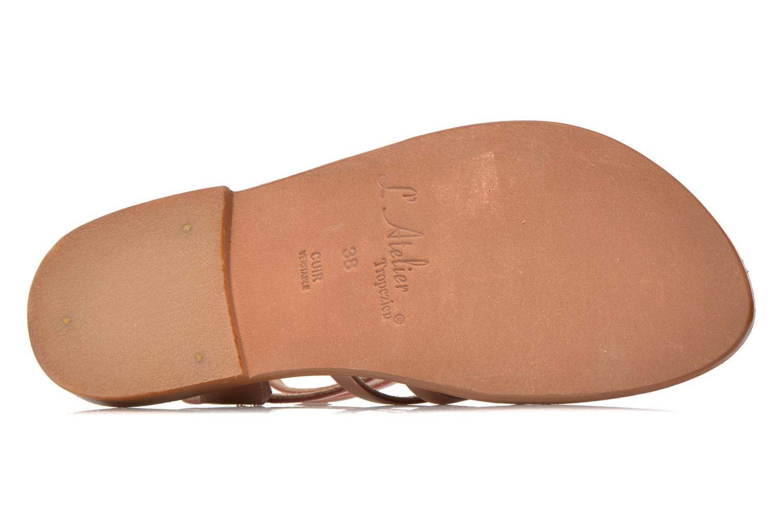 Sandales et nu-pieds L'Atelier Tropézien Juliette Rose vue haut