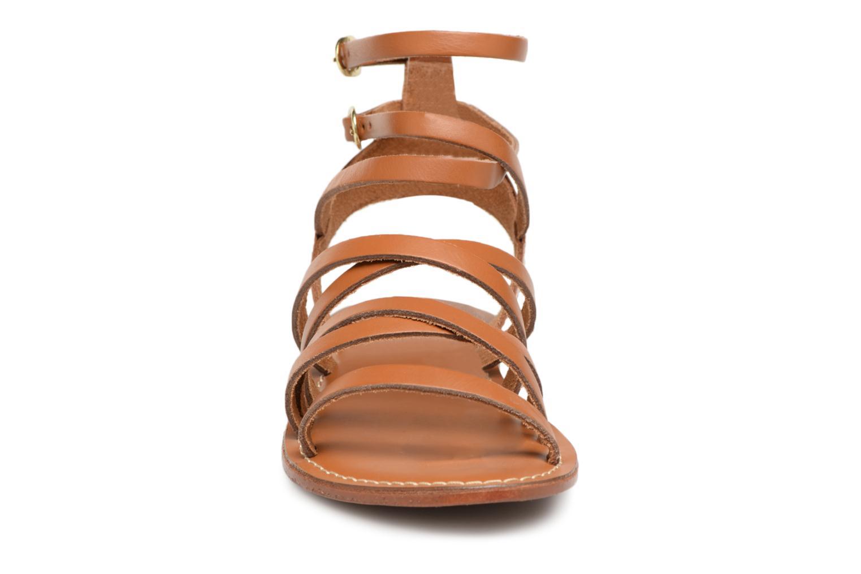 Sandales et nu-pieds L'Atelier Tropézien Juliette Marron vue portées chaussures