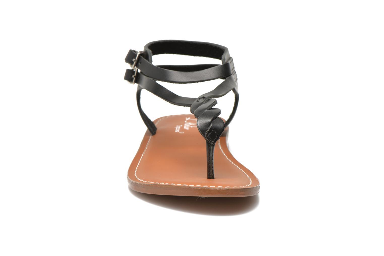 Sandales et nu-pieds L'Atelier Tropézien Fossette Noir vue portées chaussures