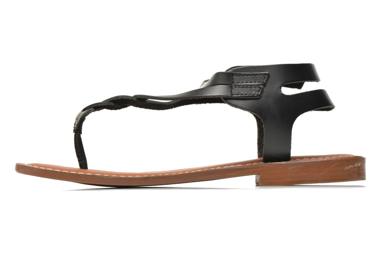 Sandales et nu-pieds L'Atelier Tropézien Fossette Noir vue face