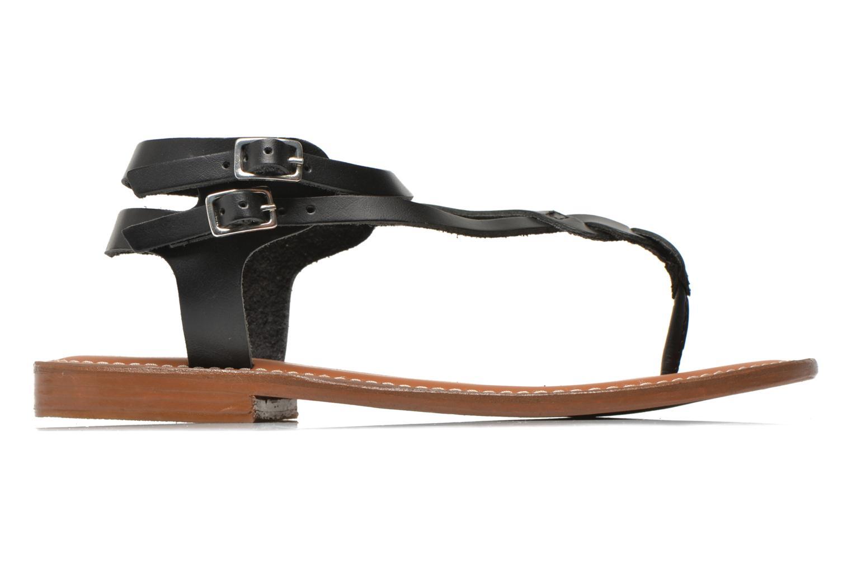 Sandales et nu-pieds L'Atelier Tropézien Fossette Noir vue derrière
