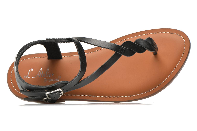 Sandales et nu-pieds L'Atelier Tropézien Fossette Noir vue gauche