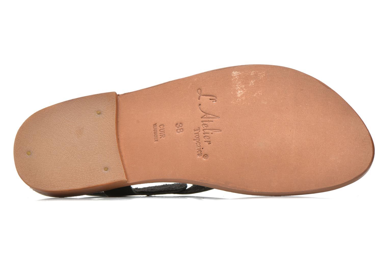 Sandales et nu-pieds L'Atelier Tropézien Fossette Noir vue haut