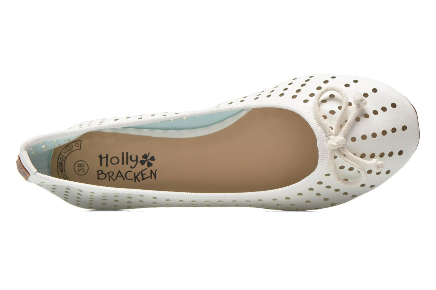 Ballerines Molly Bracken Girly Blanc vue gauche