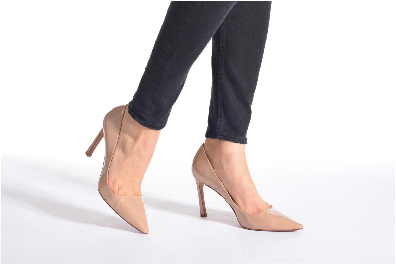 Zapatos de tacón Pura Lopez Mariela Beige vista de abajo