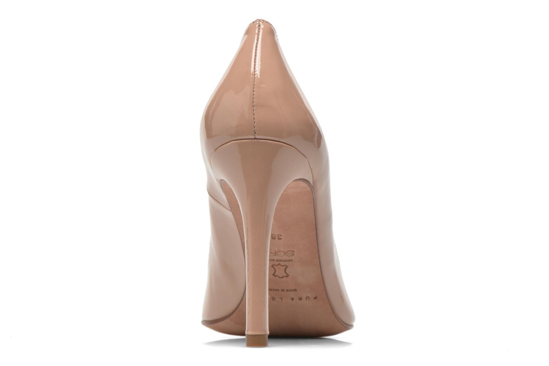 Zapatos de tacón Pura Lopez Mariela Beige vista lateral derecha