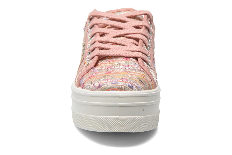 Baskets Victoria Basket Puntos Brillo Plataf Kids Rose vue portées chaussures