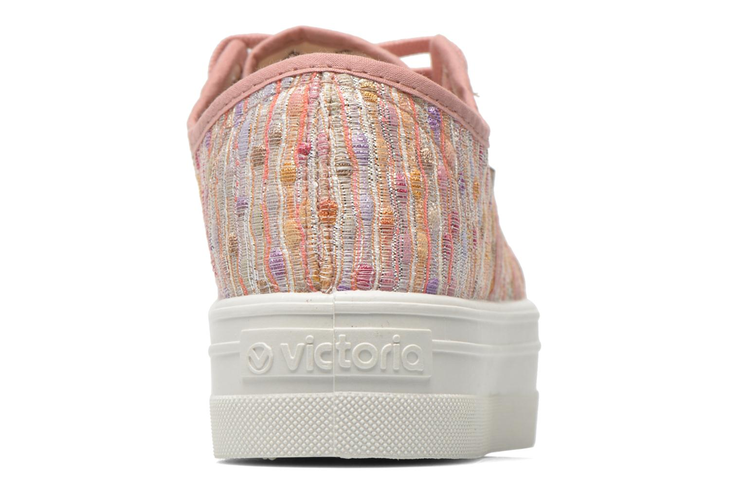 Trainers Victoria Basket Puntos Brillo Plataf Kids Pink view from the right
