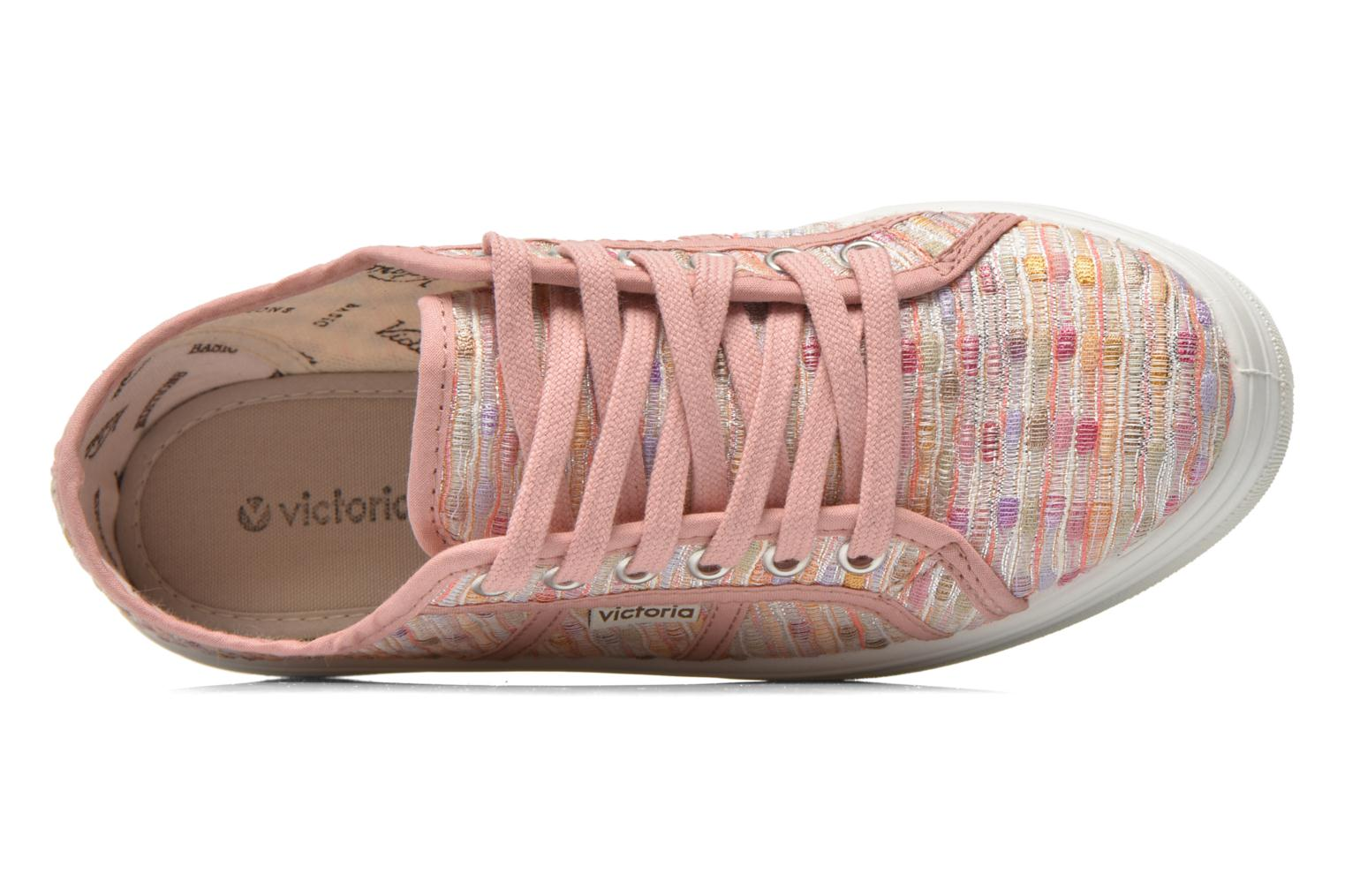 Trainers Victoria Basket Puntos Brillo Plataf Kids Pink view from the left