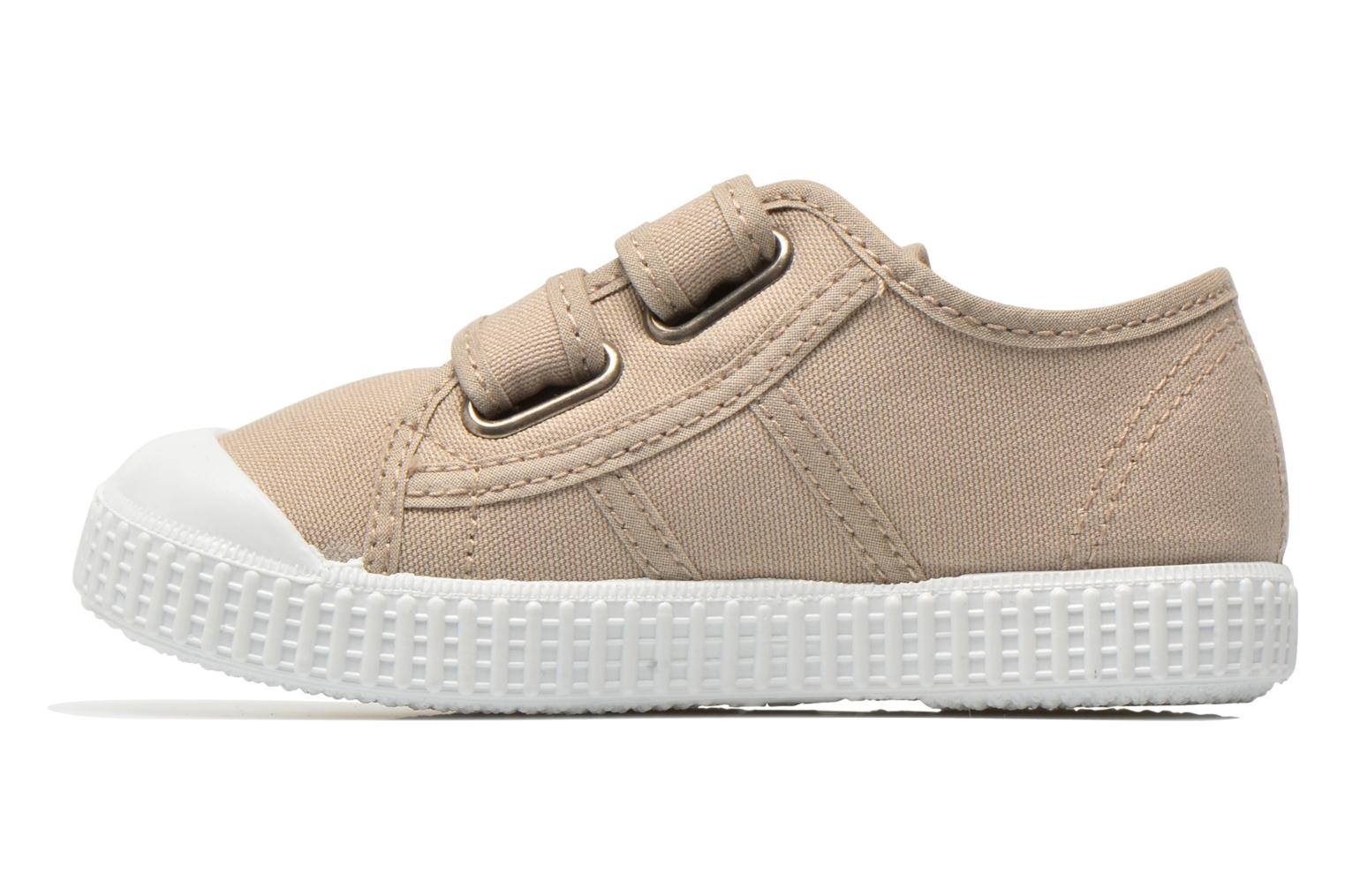 Trainers Victoria Basket lona Dos Velcos Beige front view