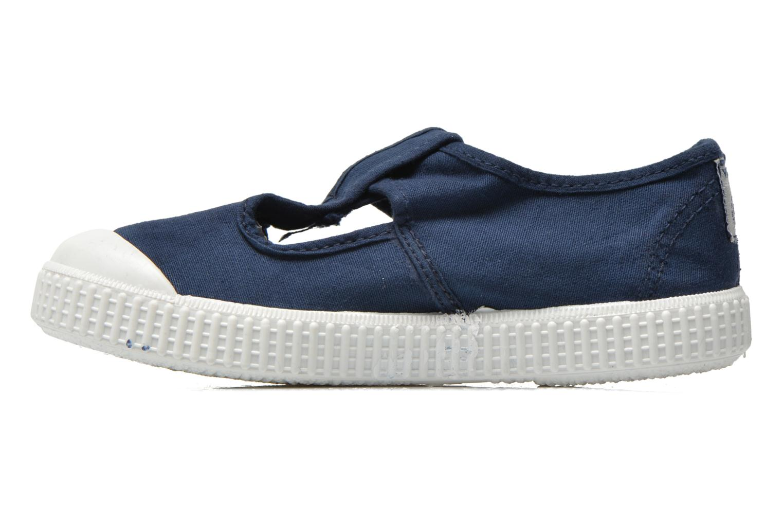 Sneaker Victoria Sandalia Lona Tintada Velcr blau ansicht von vorne
