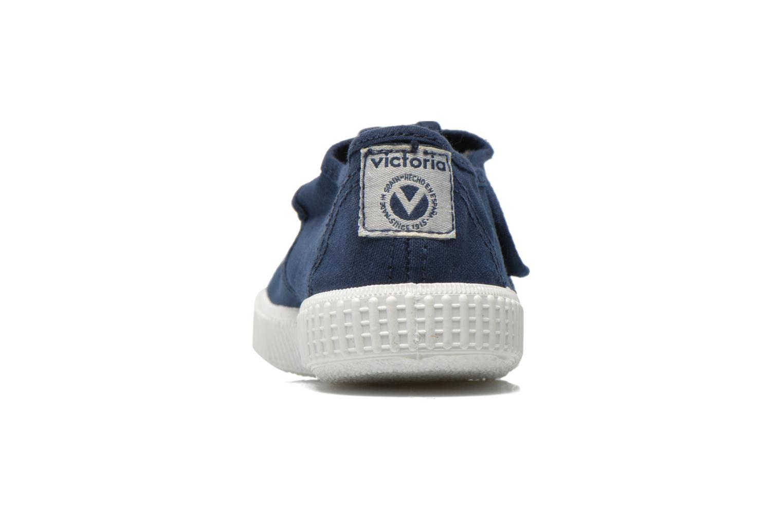 Sneaker Victoria Sandalia Lona Tintada Velcr blau ansicht von rechts
