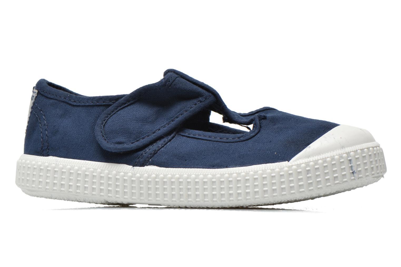 Sneaker Victoria Sandalia Lona Tintada Velcr blau ansicht von hinten