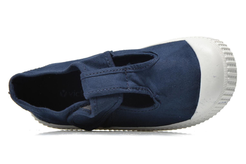 Sneaker Victoria Sandalia Lona Tintada Velcr blau ansicht von links