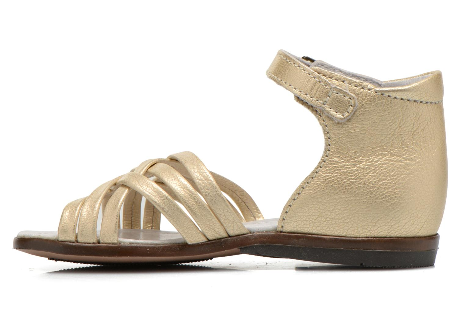 Sandals Little Mary Virginia Bronze and Gold front view
