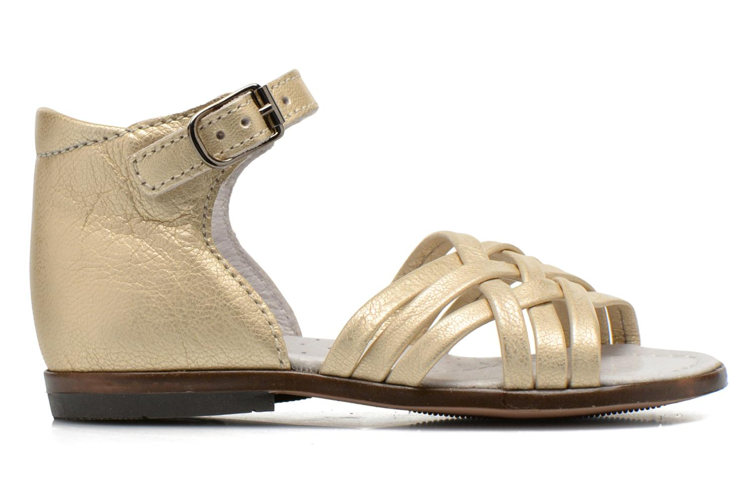 Sandals Little Mary Virginia Bronze and Gold back view