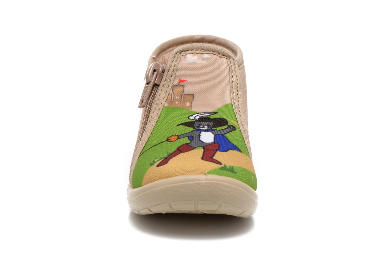 Chaussons Little Mary Zechat Beige vue portées chaussures