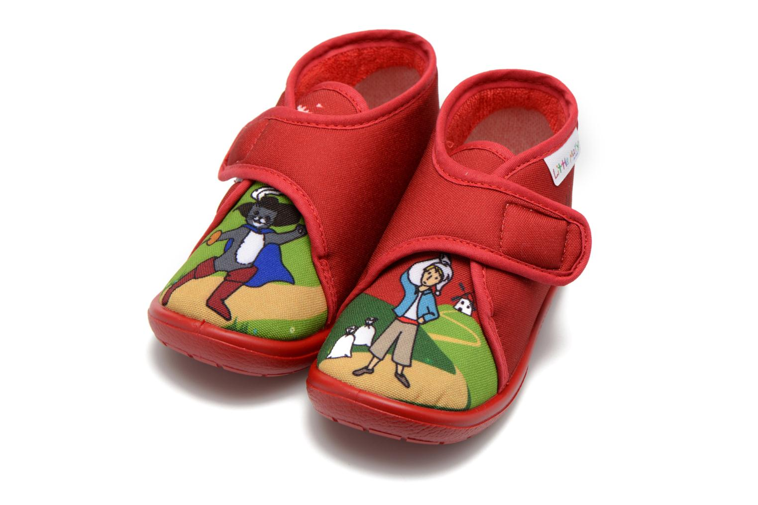 Slippers Little Mary Vchat Red 3/4 view