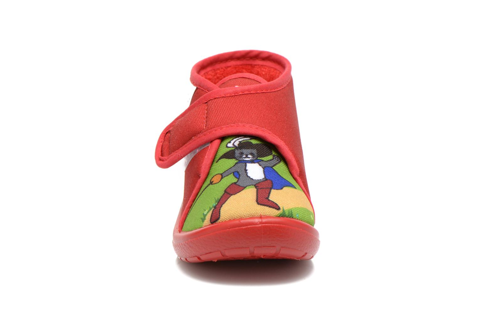 Chaussons Little Mary Vchat Rouge vue portées chaussures