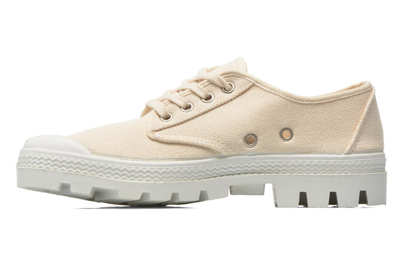 Chaussures à lacets Aigle Rubber Saint Germain Low W Beige vue face