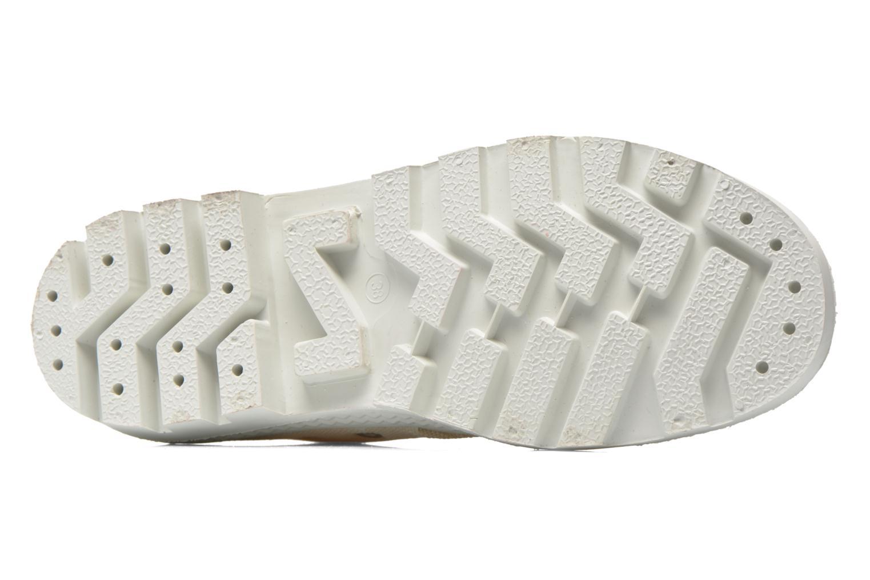 Chaussures à lacets Aigle Rubber Saint Germain Low W Beige vue haut