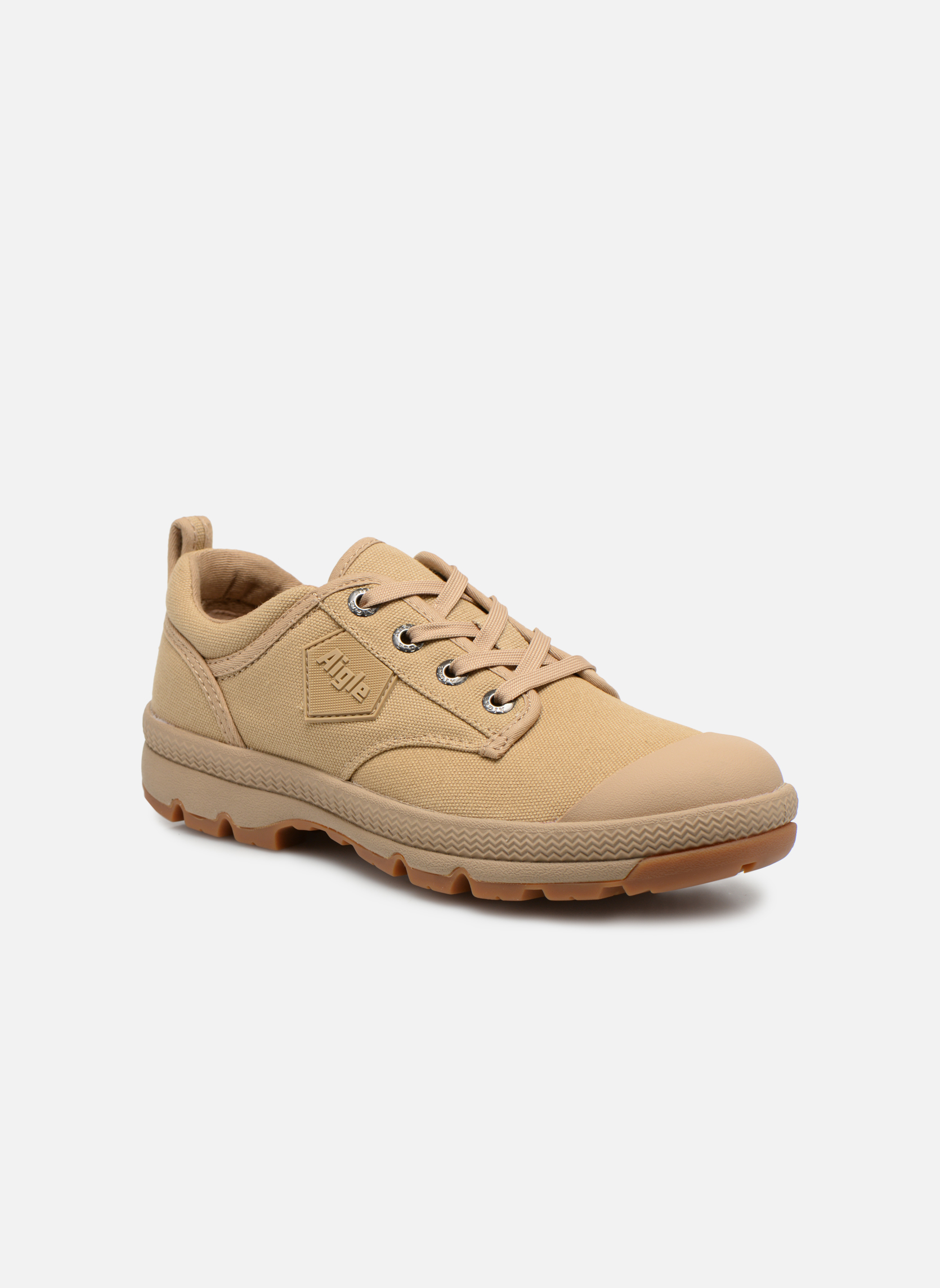 Lace-up shoes Aigle Tenere 3 Light Low W Beige detailed view/ Pair view