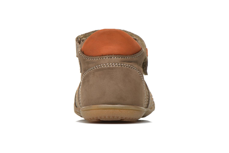 Chaussures à scratch Primigi Dany-E Marron vue droite