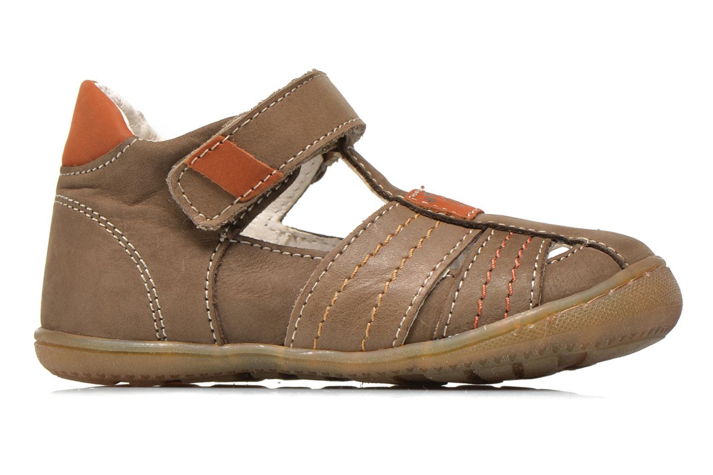 Chaussures à scratch Primigi Dany-E Marron vue derrière