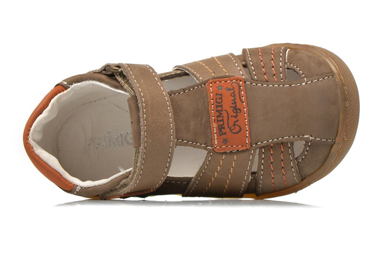 Chaussures à scratch Primigi Dany-E Marron vue gauche