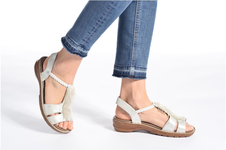 Sandales et nu-pieds Ara Hawai 2 Blanc vue bas / vue portée sac