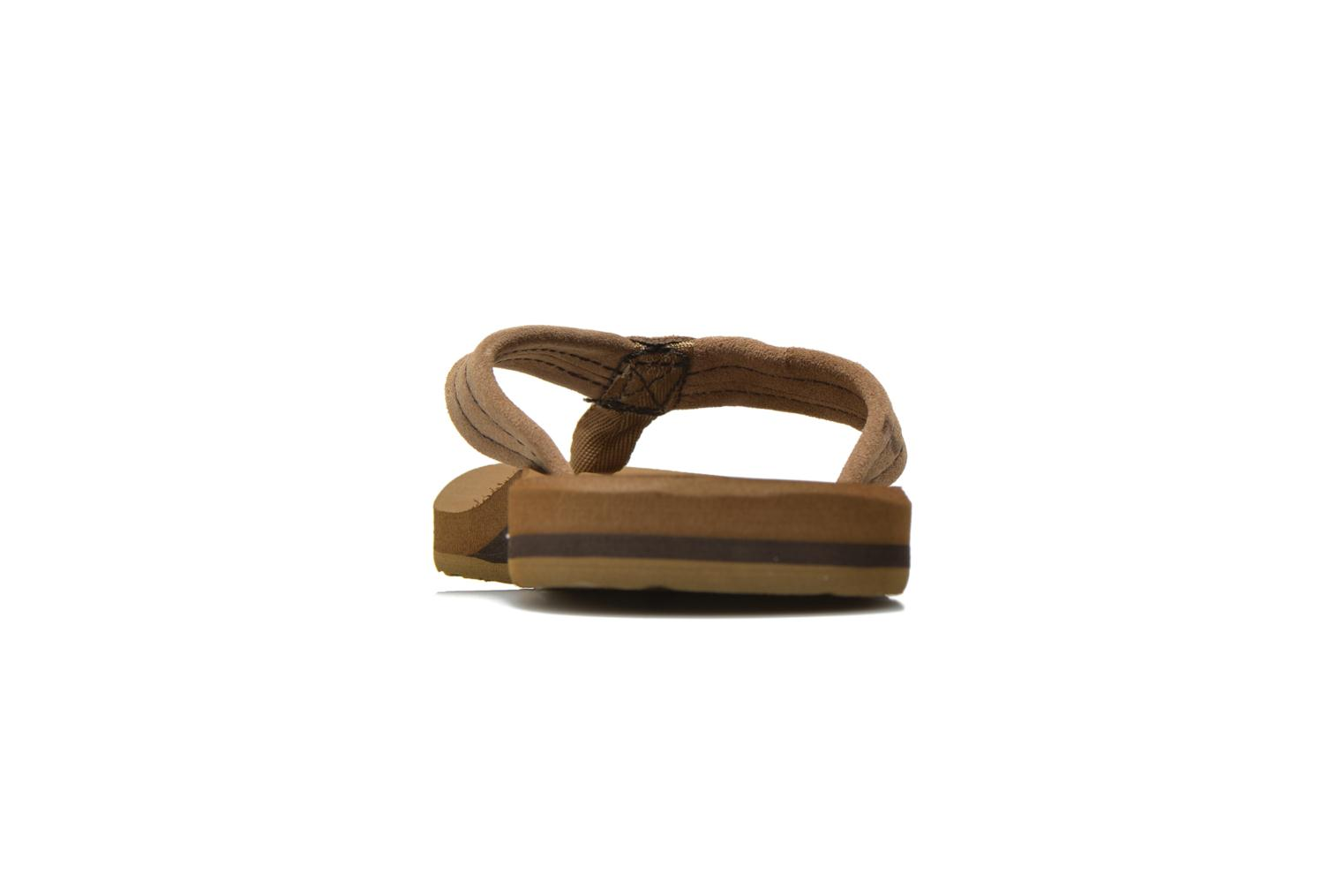 Flip flops Quiksilver Carver Suede Brown view from the right